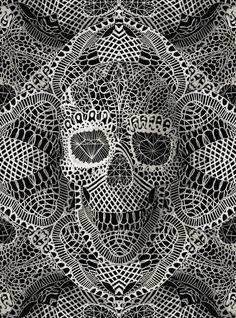 """""""Si, me gustan las calaveras"""" es el mensaje del artista Ali Gulec, ilustrador y co-fundador del estudio de diseño Ikiiki en Estanbul que hace que toda su obra deje como resultado final lo que vemos a..."""