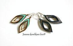 Earrings beaded jewelry kolczyki