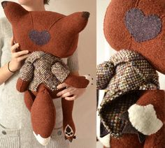 Mr and Mrs Fox for Angela by MarieChou on Etsy