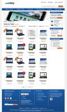 Kategorieraster des TLC Magento Onlineshop Basic.  Mehr unter: http://www.tlc-communications.de/produkte/e-commerce/onlineshop-basic.html