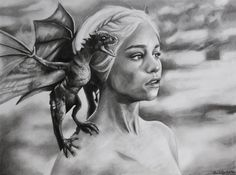 daenerys targaryen with her dragons drawing - Google Search