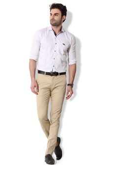 Give yourself an ultra-modern casual look with these stone coloured chino pants from KOZZAK. Mens Chino Pants, Khaki Pants, Casual Looks, Amazon, Stone, Modern, Color, Fashion, Moda