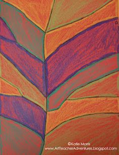 Adventures of an Art Teacher: Leaf Abstractions. Tie in with Georgia O'Keeffe… Fall Art Projects, School Art Projects, Group Projects, Art School, 2nd Grade Art, Grade 2, Second Grade, Fall Arts And Crafts, Art Lessons Elementary