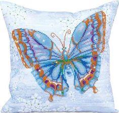 Buy Diamond Dotz Papillon Bleu Decorative Pillow X from the Diamond Painting range at Hobbycraft. Butterfly Pillow, Butterfly Crafts, Blue Butterfly, New Crafts, Hobbies And Crafts, Fade Color, 5d Diamond Painting, Blue Pillows, Embroidery Kits