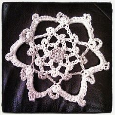 One little star like snowflake became a garland. Ideal for Christmas.