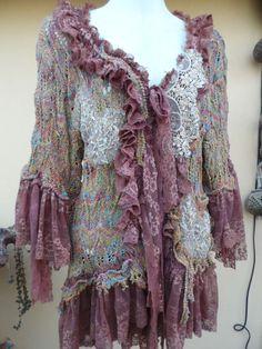20%SALE vintage inspired shabby jacket in woodland by wildskin