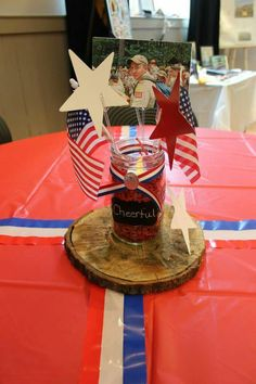 Andy's Eagle Scout Court of Honor centerpieces.
