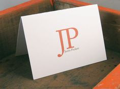 Big Initials Personalized Stationary  Mens by ohlouisedesigns, $13.00  Great Fathers Day Present