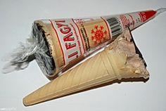 Téli fagyi - retró ételek - retro - zacskójában a fagyi tetején, ha jól emlékszem matrica, vagy kis játék is volt