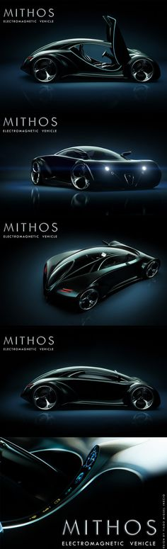 Futuristic MITHOS Electromagnetic Vehicle Features Crash Resistant Body and Quantum Boost Technology.