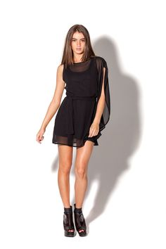Cascade Black Dress by Black Milk Clothing