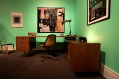 Great example of a Midcentury office.