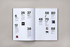 Ninety Nine U Magazine No 11 on Behance #summary #index #grid inspiration