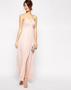 ASOS - Maxi robe avec encolure bandeau à encoche
