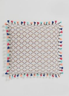 Introduce a pop of colour to your interior with our geometric pattern cushion, crafted in multi-coloured woven fabric. The design is finished with pretty. Cushions, Pillows, Color Pop, Colour, Woven Fabric, Home Accessories, Textiles, Pattern, Crafts
