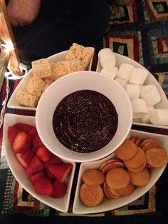 ricotta cheese dessert recipes, brunch dessert recipes, jewish dessert recipes - chocolate fondue - recipe found here:  http://crockpot365.blogspot.com/2008/10/little-dipper-crockpot-chocolate-fondue.html  first comes love: A day for love!