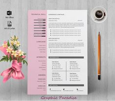 Resume template Professional resume template instant image 1 Ttf Fonts, Png Icons, One Page Resume, Resume Template Free, Free Resume, Change Image, Resume Design, Professional Resume, Creations