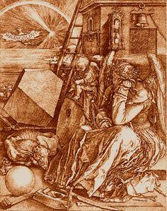 Albrecht  Dürer. Melancolia. 1514