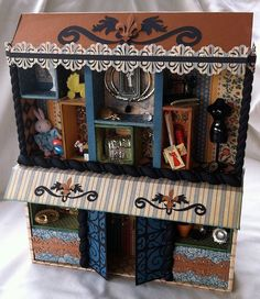Victorian Era Altered Box House For Home Decor By Scrapsforsanity 39