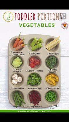 12 Toddler Portions: Vegetables