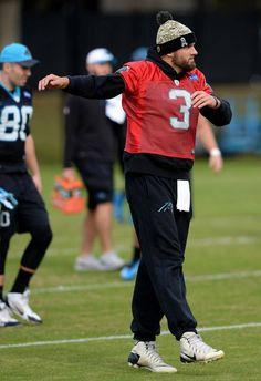 5dab9f970fc2 Carolina Panthers quarterback Derek Anderson dances during stretching on  Wednesday