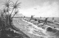 Ancient Hawaiians enjoying the surf on their Alaia surfboards Hawaii Surf, Honolulu Hawaii, Kauai, Flagler Beach, Hawaiian Art, Polynesian Culture, Waikiki Beach, Surf Art, Hawaiian Islands