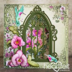 Heartfelt Creations - Botanic Orchid Window Card Project