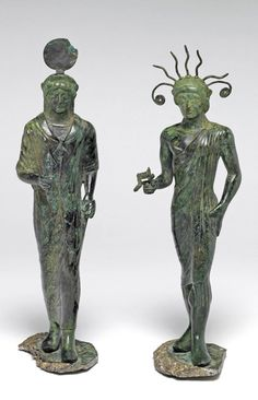 Etruscan  Male and female figures. Brass (copper alloy). Purchased with a grant from the National Art Collections Fund,
