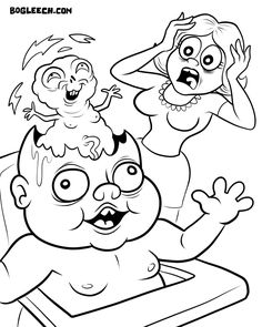 strange coloring page pesquisa google - Weird Coloring Books