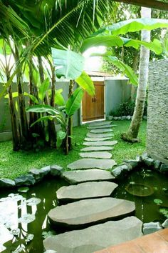✔️ 100 Fun Backyard Landscaping Idea How About An Exotic, Tropical Backyard Resort 29
