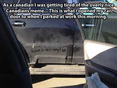 Overly nice Canadians…