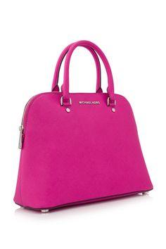 d1036261416d MYR 1,110 MICHAEL Michael Kors Cindy Large Dome Satchel Raspberry (Designer  Colour) - MICHAEL KORS