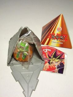 """2004 Yu-Gi-Oh """"The Movie"""" Burger King Toys - I had this exact one, and I had Kuriboh, Exodia, and Pumpking as well. This was 14 years ago when I played with Yu-Gi-Oh cards still."""