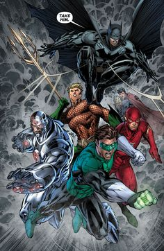 Green Lantern and Justice League by Jim Lee Marvel Dc Comics, Dc Comics Art, Marvel Art, Comic Book Characters, Comic Book Heroes, Comic Character, Dc Heroes, Comic Book Artists, Comic Artist