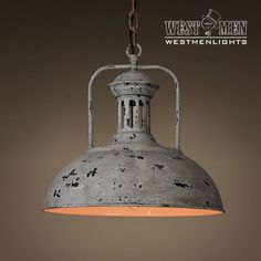 New Vintage Industrial Rustic Metal Dome Pendant Light Hanging Lamp Art Deco
