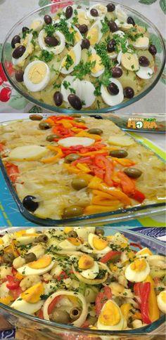 Healthy Dinner Ideas for Delicious Night & Get A Health Deep Sleep Cod Recipes, Fish Recipes, Appetizer Recipes, Crockpot Recipes, Dinner Recipes, Healthy Recipes, Dinner Ideas, Crispy Seaweed, Portuguese Recipes