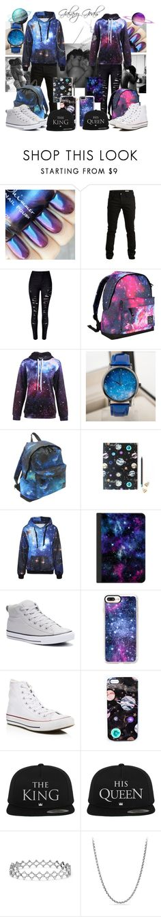 """""""046 Space Lovers"""" by berry2206 on Polyvore featuring SELECTED, WithChic, Hot Tuna, Moon Collection, Nikki Strange, Casetify, Converse und David Yurman"""
