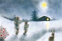Op weg naar de stal - Sanne Dufft - Postcard