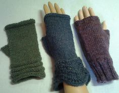 Ravelry: 3 Magic Loop Patterns for Fingerless Gloves pattern by Linda Grant