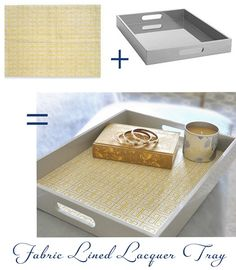 Centsational Girl » Blog Archive » Greek Key Fabric Lined Tray