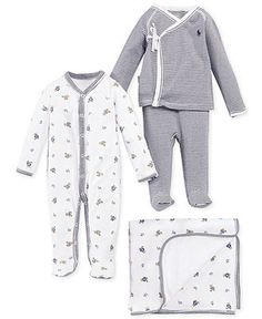 Ralph Lauren Baby Boys' Cute & Classic Gift Bundle - In Newborn size I have the teddy bear footie