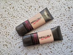 Blossom in Blush - L'Oreal Infallible Pro-Matte (102 shell beige, 101 classic ivory)