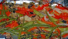 Foil baked vegetables