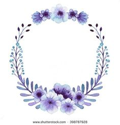 ✼ ✻ ✺ ✹ ✸ ✷ ₪ ❃ ❂ ❁ ❀ Wreath Watercolor, Watercolor Flowers, Watercolor Art, Boarders And Frames, Floral Border, Border Design, Flower Frame, Wallpaper Backgrounds, Pop Art