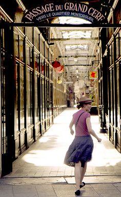 Passage du Grand Cerf - It links Rue Dussoubs and Rue Saint-Denis in 2nd arrondissement - Etienne Marcel Metro stop- Paris