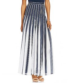 Pendleton Pleated Stripe Maxi ALine Skirt #Dillards