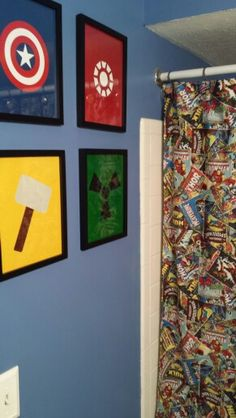 An Avengers Bathroom Never Thought Of It But A Great Idea Wall Art
