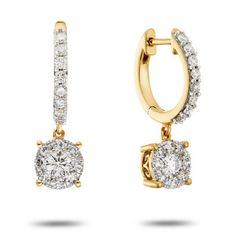 1ctw Unity Drop Style Diamond Earrings