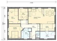 BGX10 Bungalow Grundriss 106qm 4 Zimmer