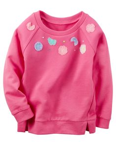 Toddler Girl Embellished French Terry Pullover from Carters.com. Shop clothing & accessories from a trusted name in kids, toddlers, and baby clothes.